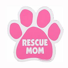Paw Car Window Decal - Rescue Mom