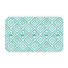 Paw Ikat Pet Placemat by TarHong - Teal