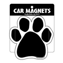 Paw Magnet - Black Solid Pawprint