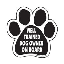 Paw Magnet - Well Trained Dog Owner on Board