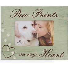 Paw Prints on my Heart Picture Frame by Dog Speak