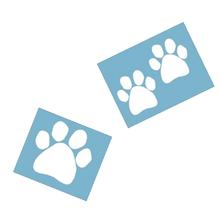 Paw Shaped Car Window Decal