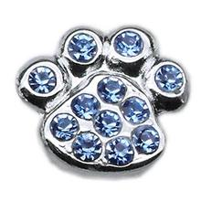 Paw Slider Dog and Cat Collar Charm - Blue