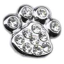 Paw Slider Dog and Cat Collar Charm - Clear