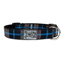 Black Twill Plaid Adjustable Clip Dog Collar By RC Pet