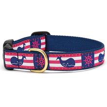 Whale Stripe Dog Collar by Up Country