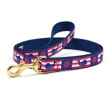 Whale Stripe Dog Leash by Up Country