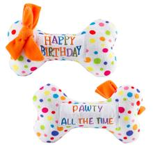 Happy Birthday Bone Dog Toy by Haute Diggity Dog