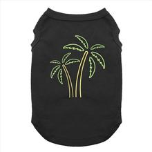Neon Palm Trees Dog Shirt - Black