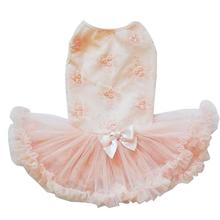 Peach Rosette Dog Petti Dress By Pawpatu