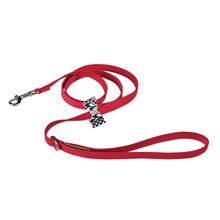 Classic Glen Houndstooth Big Bow Dog Leash by Susan Lanci - Red