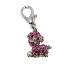 Pearl Dog D-Ring Pet Collar Charm by foufou Dog - Pink