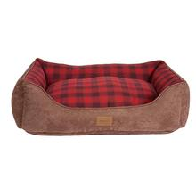 Pendleton® Pet Red Ombre Plaid Kuddler Dog Bed