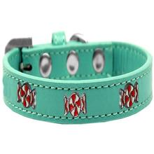 Peppermint Widget Dog Collar - Aqua