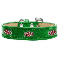 Peppermint Widget Dog Collar - Emerald Green