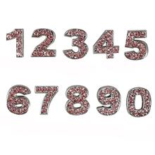 Personalized Pink Crystal Numbers - 0-9