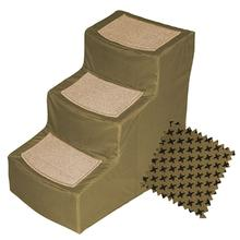 Pet Gear Designer Pet Step with Removable Cover - Tan