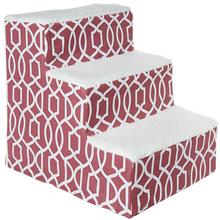 Pet Gear Trellis Print Pet Steps - Dark Cranberry