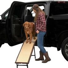 Pet Gear Ultra-Lite Free-Standing Dog Ramp with Extension Panel - Chocolate