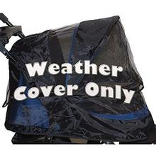 Pet Gear Weather Cover for Jogger and AT3 No-Zip Pet Strollers - Black