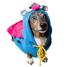 Pet Krewe Sesame Street Super Grover Pet Hoodie - Blue