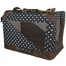 Pet Life 360° Vista View Pet Dog Crate - Dark Navy with Polka Dot