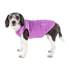 Pet Life ACTIVE 'Aero-Pawlse' Heathered Dog Tank Top T-Shirt - Maroon/Purple