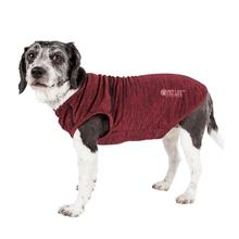 Pet Life ACTIVE 'Aero-Pawlse' Heathered Dog Tank Top T-Shirt - Red/Maroon