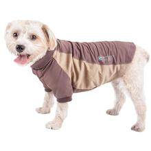 Pet Life ACTIVE Barko Pawlo Performance Dog Polo - Brown