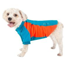 Pet Life ACTIVE Barko Pawlo Performance Dog Polo - Blue and Orange