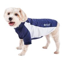 Pet Life ACTIVE 'Barko Pawlo' Performance Dog Polo - Navy and White