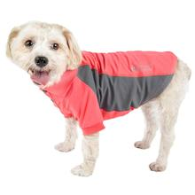 Pet Life ACTIVE Barko Pawlo Performance Dog Polo - Salmon Red and Gray