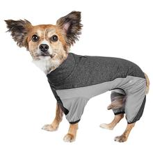 Pet Life ACTIVE 'Chase Pacer' Performance Full Body Dog Warm Up - Charcoal Gray