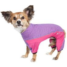 Pet Life ACTIVE 'Chase Pacer' Performance Full Body Dog Warm Up - Pink and Purple