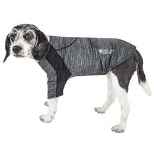 Pet Life ACTIVE 'Chewitt Wagassy' Performance Long Sleeve Dog T-Shirt- Black