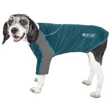 Pet Life ACTIVE 'Chewitt Wagassy' Performance Long Sleeve Dog T-Shirt- Teal