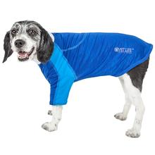 Pet Life ACTIVE Chewitt Wagassy Performance Long Sleeve Dog T-Shirt - Blue
