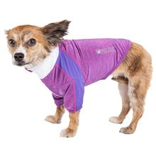 Pet Life ACTIVE Chewitt Wagassy Performance Long Sleeve Dog T-Shirt- Lavender