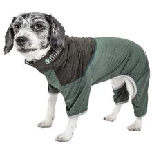 Pet Life ACTIVE Embarker Performance Full-Body Dog Warm Up Suit - Hunter Green