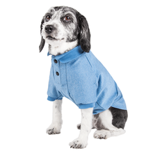 Pet Life ACTIVE Fur-Flexed Performance Dog Polo - Blue