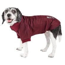 Pet Life ACTIVE Fur-Flexed Performance Dog Polo - Burgundy