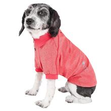 Pet Life ACTIVE Fur-Flexed Performance Dog Polo - Red