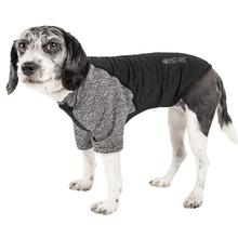 Pet Life ACTIVE Hybreed Two-Toned Performance Dog T-Shirt - Black and Gray