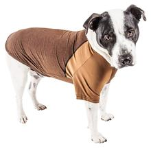 Pet Life ACTIVE Hybreed Two-Toned Performance Dog T-Shirt - Brown