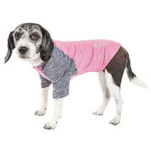 Pet Life ACTIVE 'Hybreed' Two-Toned Performance Dog T-Shirt - Pink and Navy