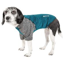Pet Life ACTIVE Hybreed Two-Toned Performance Dog T-Shirt - Teal and Gray