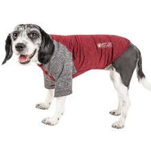Pet Life ACTIVE Hybreed Two-Toned Performance Dog T-Shirt - Maroon and Gray