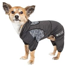 Pet Life ACTIVE 'Pawsterity' Performance Dog Hoodie Jumpsuit - Black