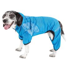 Pet Life ACTIVE 'Pawsterity' Peformance Dog Hoodie Jumpsuit - Blue