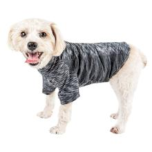 Pet Life ACTIVE 'Warf Speed' Performance Dog T-Shirt - Black Heather